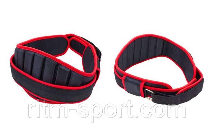 Пояс для важкої атлетики посилений, регульований (довжина від 81 см до 115 см), фото 2