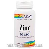 Цинк хелат 100 капс 50 мг  здоровье простаты повышение тестостерона потенции Solaray USA