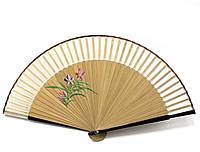 Бамбуковый веер с шелком Веточка сакуры