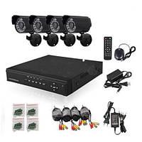Комплект видеонаблюдения  4 камеры регистратор HDD 160 GB