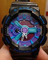 Casio G-Shock GA 110 черные с фиолетовым black purple