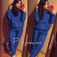 Спортивный костюм женский зимний Монклер Premium электрик , спортивные костюмы