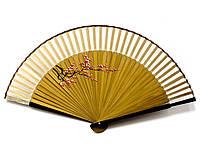 Веер с шелком бамбуковый Веточка сакуры
