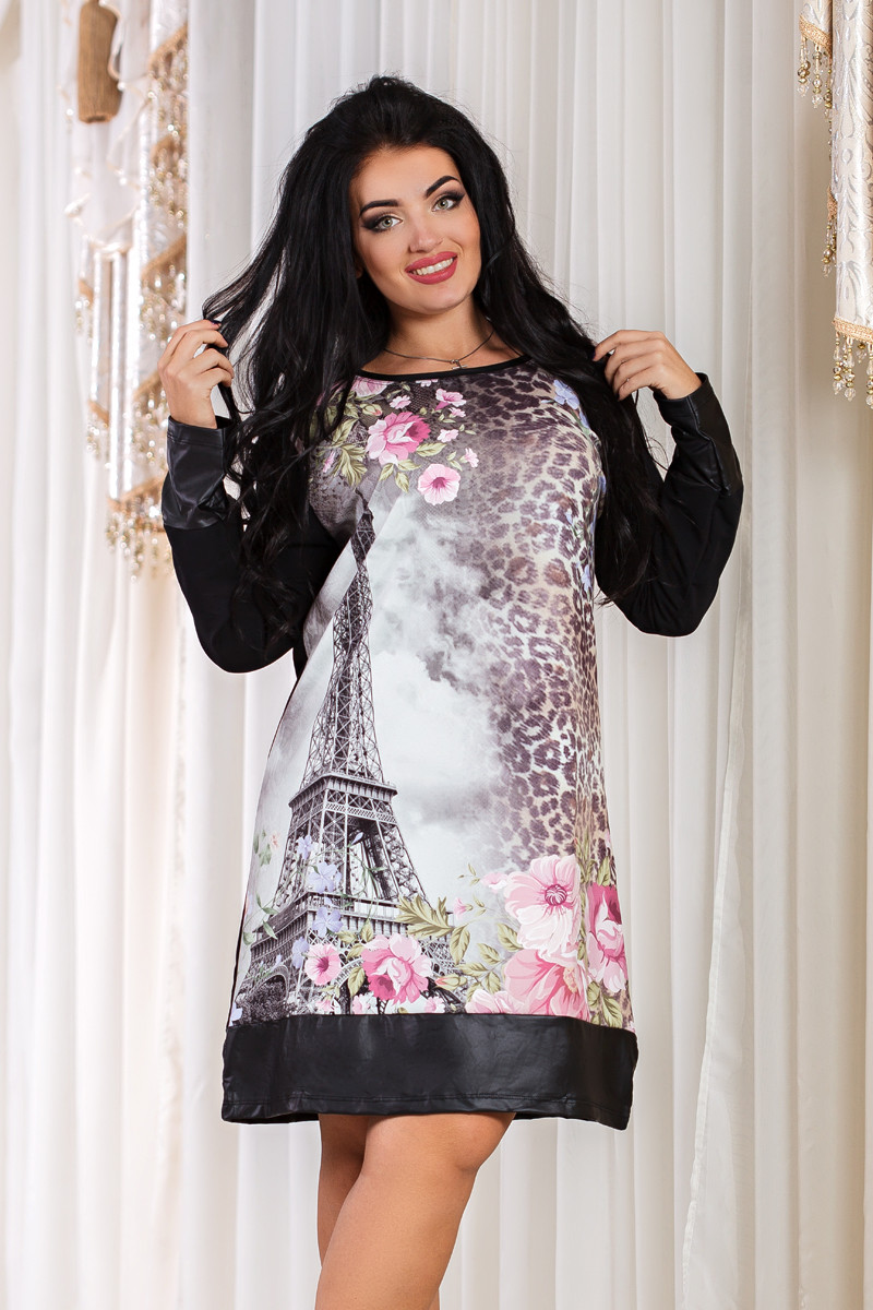 ДТ3842 Платье трапеция размер 50-54