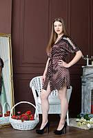 Стильный женский шелковый халат