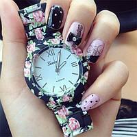 Женские часы Geneva Flowers