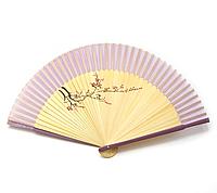 Веер с рисунком бамбуковый
