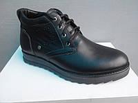 Стильные классические зимние мужские ботинки на натуральном меху и комфортной подошве