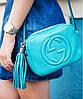 Женская сумка в стиле GUCCI SOHO DISCO BLUE BAG (3430)