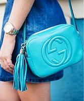 Женская сумка в стиле GUCCI SOHO DISCO BLUE BAG (3430), фото 1