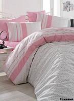 Постельное белье 160х220 Arya  ранфорс Defne розовый