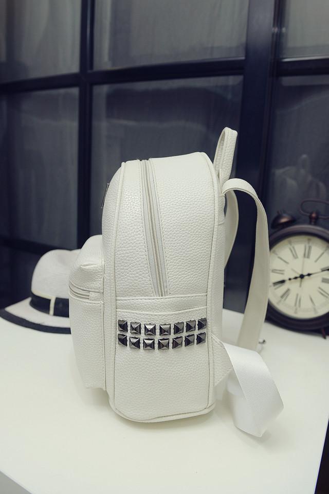 Стильный белый рюкзак для девочки