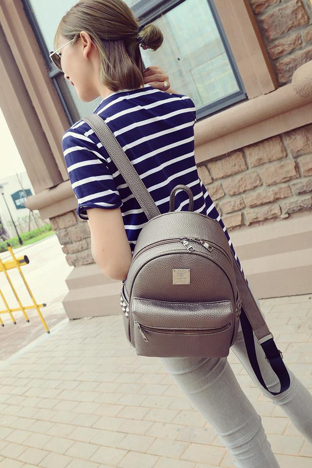 Маленький стильный рюкзак кожзам