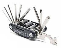 Набор инструментов 16 в 1, мультитул велосипедный, набор шестигранников