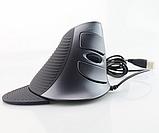 Оригінальна Вертикальна ергономічна дротова, USB миша Delux M618, фото 2