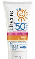 Солнцезащитный детский крем для лица SPF50+, 50 мл, Lirene
