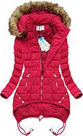 Зимняя женская куртка с меховым капюшоном