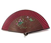 Бордовый веер бамбук