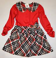 Красное трикотажное платье 98р