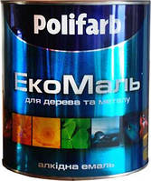 Эмаль ЭкоМаль Полифарб черная 2,7кг