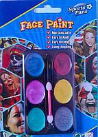 Грим карнавальный палитра перламутровая 6 цветов.