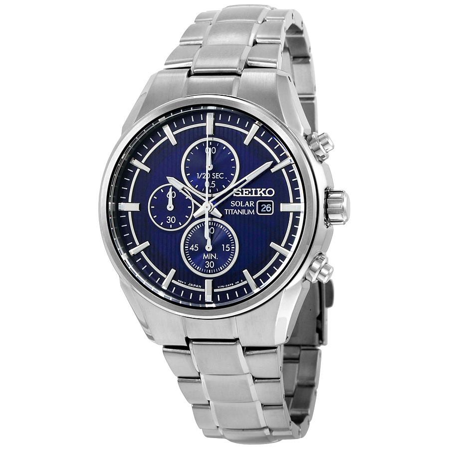 Часы Seiko SSC365P1 Titanium хронограф SOLAR V176