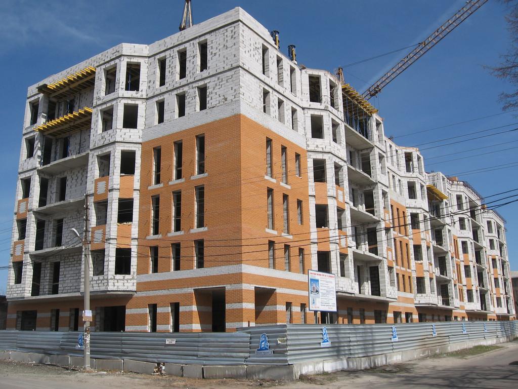 """Фасадные работы, отделка фасада жилого комплекса """"На Бакулина"""" 4"""