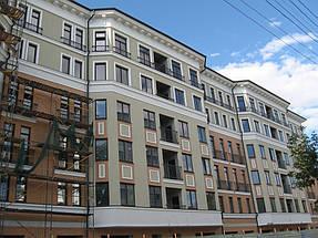 """Фасадные работы, отделка фасада жилого комплекса """"На Бакулина"""" 7"""