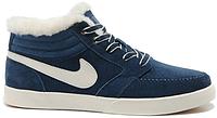 Мужские зимние кроссовки Nike Blazer Mid Winter, Найк с мехом синие