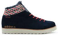 Мужские зимние кроссовки Adidas NEO Rugged, Адидас с мехом синие