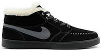 Мужские зимние кроссовки Nike Blazer Mid Winter, Найк с мехом черные