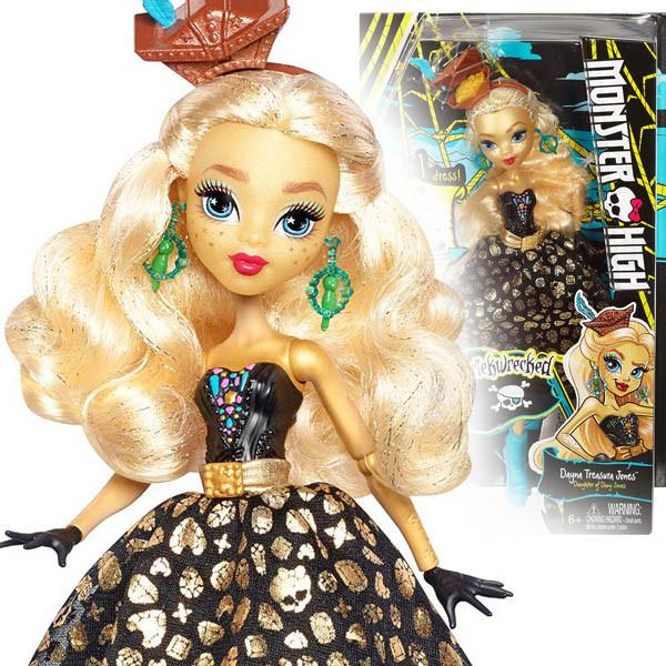 Кукла Monster High Shriekwrecked Dayna Treasura Jones Монстер хай Кораблекрушение Трежура Джонс  Mon