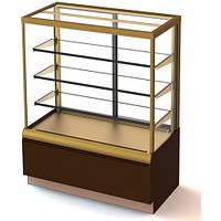 Кондитерская холодильная витрина  ВХСв-0,9 д Cube