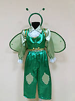 Прокат карнавальный костюм Кузнечик, р. 104, 110-116см