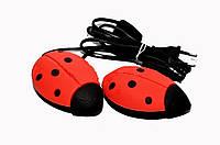 Сушилка для обуви Солнышко красная в подарочной коробке