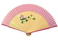 Розовый дамский веер