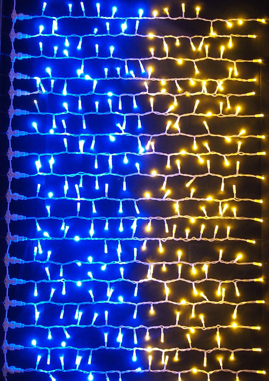 LED гирлянда Флаг Украины 320 лампочек