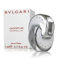 Женская туалетная вода Bvlgari Omnia Crystalline for Women Eau de Toilette (EDT) 5ml, Mini (мини, миниатюра), фото 1
