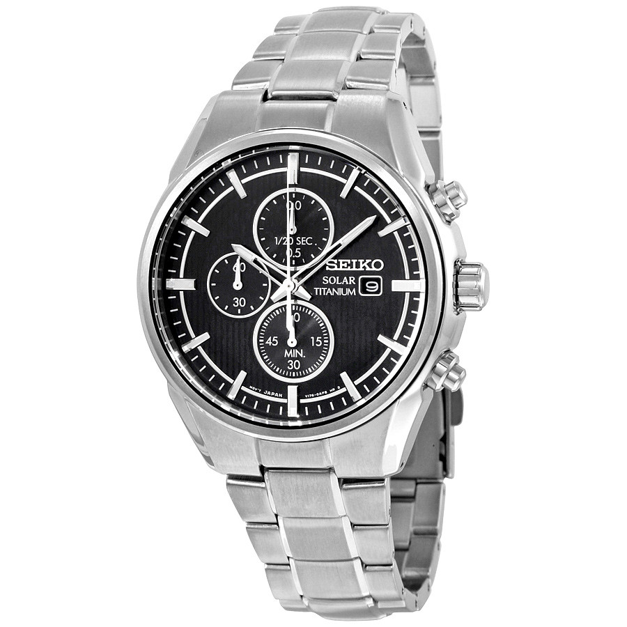 Часы Seiko SSC367P1 Titanium хронограф SOLAR V176
