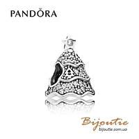 Pandora Шарм МЕРЦАЮЩАЯ НОВОГОДНЯЯ ЕЛКА #791765CZ серебро 925 Пандора оригинал