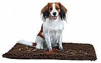 Коврик грязепоглощающий с лапками для собак  80 55см коричневый