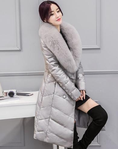 Женский стильный зимний пуховик. Модель 1007