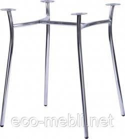 База для столу Сінді  алюм/хром/чорна