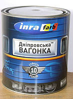 Эмаль Дніпровська Вагонка светло-серый лак ПФ-133 0,85л