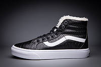 Кроссовки Vans SK8-Hi Slim Zip Croc Leather (Мех)
