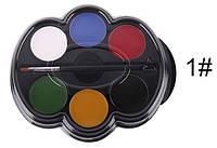"""6 цветов краска боди-арт для лица маслом макияж на хэллоуин, вечеринку """"Popfeel"""" make up 12 грамм"""