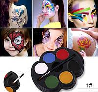 "6 цветов краска боди-арт для лица макияж на хэллоуин, вечеринку ""Popfeel №1"" make up 12 грамм"