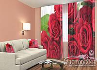 """3D ФотоШторы """"Букет красных роз"""""""