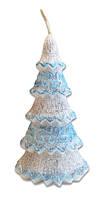 Свеча новогодняя Заснеженная ель 15 см