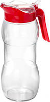 Кувшин стеклянный LISA 1,5л. с красной ручкой